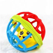 Soft Plastic Baby Grasping Bell Ball Toys Rattles Sound Educational Rolling Balls Infant Toddler Teether Toy @Z332 bearoom baby rattles mobiles fuuny baby toys intelligence grasping gums soft teether plastic hand bell hammer educational gift