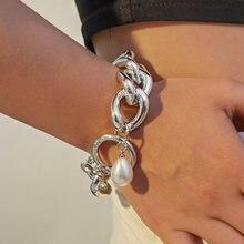 Панковские браслеты с барочным жемчугом в богемном стиле замком