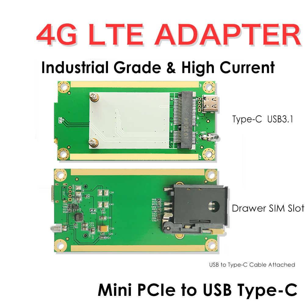Micro SATA Cables Mini PCI-e 3G WLAN Wireless WiFi Card to USB Adapter with SIM Slot