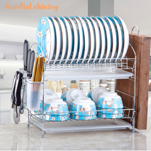 Rack Tableware-Storage Drain Plating Metal Kitchen Stable Home Anti-Rust Shining Thicken
