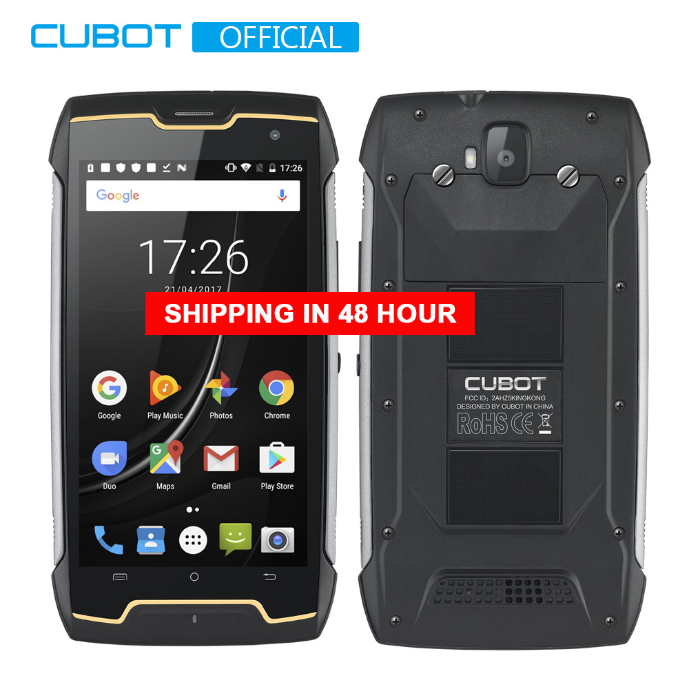 Cubot KingKong Rugged Smartphone IP68 Waterproof 4400mAh Big Battery Compass+GPS 3G Dual-SIM Android 7.0 2GB RAM 16GB ROM MT6580