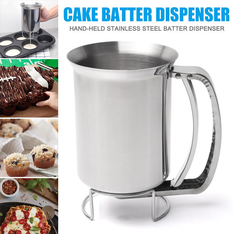 Stainless Steel Donut Cupcake Waffle Batter Funnel Pancake Dispenser Maker Kitchen Supplies HY99