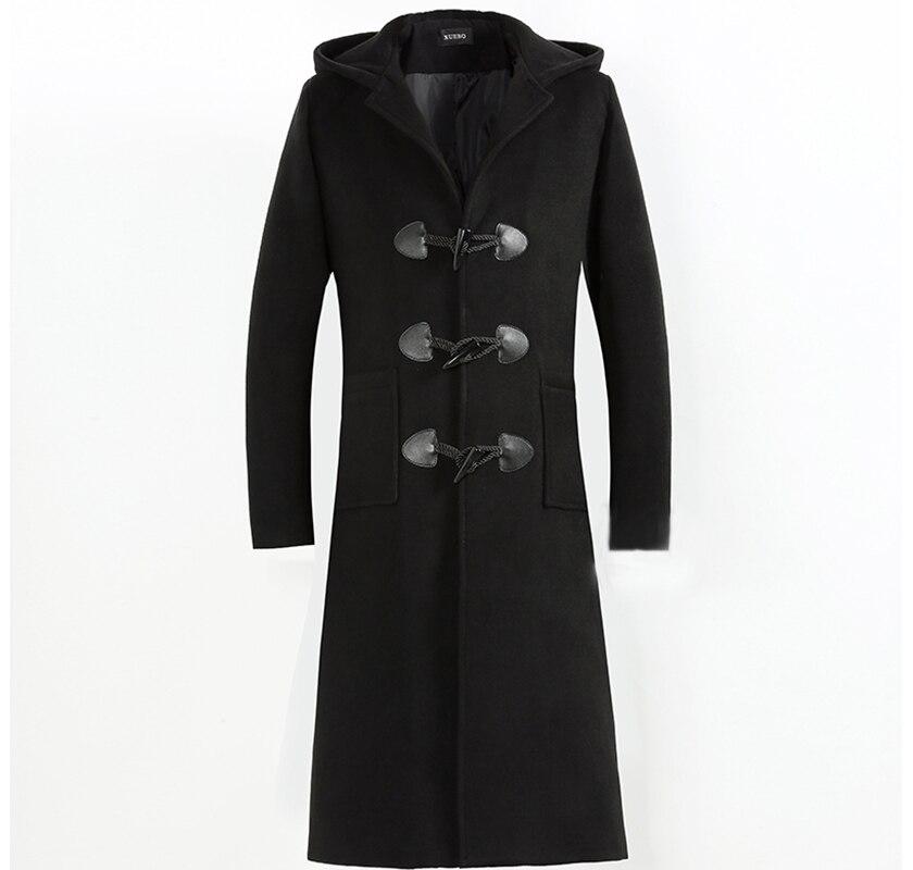 High Quality Autumn Winter Wool Coat Men Casual Woolen Blends Slim Fit Outwear abrigo hombre casacos Mens Long Trench Coats 4XL