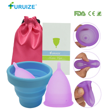 цена на 1pcs Sterilizer Cup with 1pcs Copa Menstrual Cup with 1pcs Cloth Bag Pack Sterilizing Cup Flexible to Clean Recyclable Lady Cup