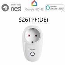 Sonoff S26 Eu Wifi Timing Afstandsbediening Stopcontact Intelligente Draadloze Plug App Power Voor Smart Home Switch Werken Met alexa