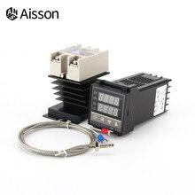 Contrôleur avec affichage numérique de la température, REX-C100, 110V-240V, relais SSR 40a, sonde de Thermocouple 1M K, dissipateur thermique