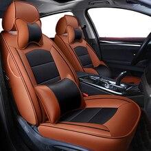 Cobertura de assento de carro de couro real personalizada, capa protetora de assento de carro para suzuki grand vitara jiny kizashi swift sx4 baleno ignis