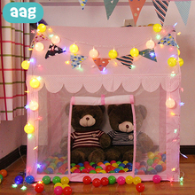 AAG Baby Play Tent Indoor Outdoor Ball Pool Cabin for Child Teepee Tents for Events Kids Game House Lodge Wigwam Princess Castle
