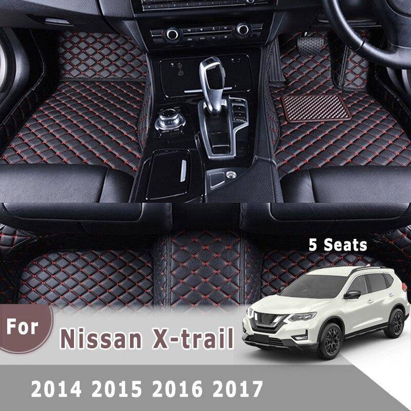 Esteras de coche terciopelo personalizado para adaptarse a Nissan X-Trail 2007-2014