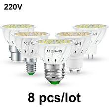 8PCS MR16 LED GU10 Lamp Ampoule led E27 Spotlight E14 Corn Light Bulb 220V gu5.3 2835 home Energy saving Lighting 5W 7W 9W