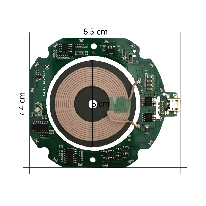 High Quality Standard PCBA Circuit Board + Coil DIY Charging 10W Qi Fast Wireless Charger Module Transmitter