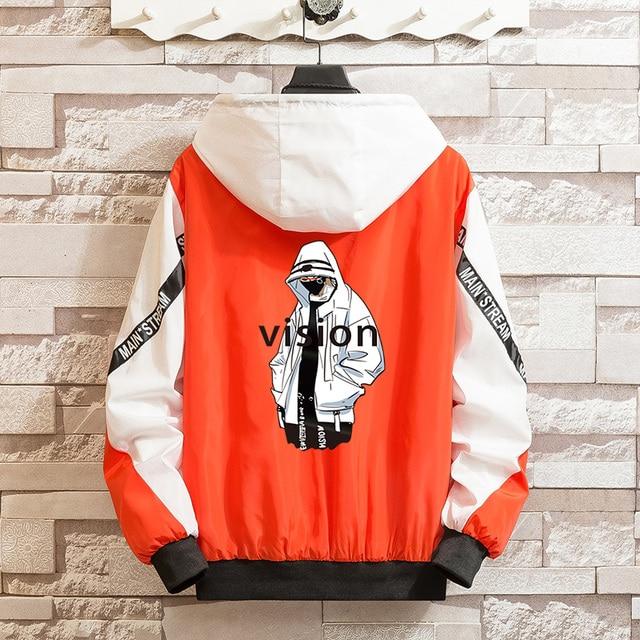 LES KOMAN Spring Autumn New Men Jacket Fashion Printing Casul Streetwear Hooded Splice Sports Coats Outwear S-5XL 3