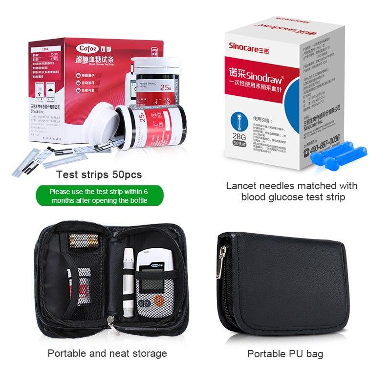 Купить с кэшбэком Cofoe Yili Glucometer Glucose Meter Blood Sugar Monitor Diabetes Tester Home Measurement System with 100pcs Test Strips &Lancets