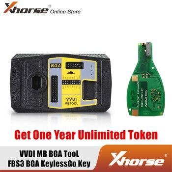Xhorse V5.0.5 программатор VVDI MB Tool для Benz Key программатор получить один год неограниченного жетона и 1 шт бесплатно VVDI MB FBS3 BGA KeylessGo ключ