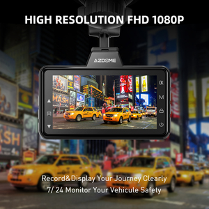 "Image 3 - AZDOME 3 ""M01 פרו רכב DVR IPS מסך 1080P כפול עדשת מצלמת מקף נהיגה מקליט ראיית לילה G חיישן לולאה הקלטת מצלמה רכב"