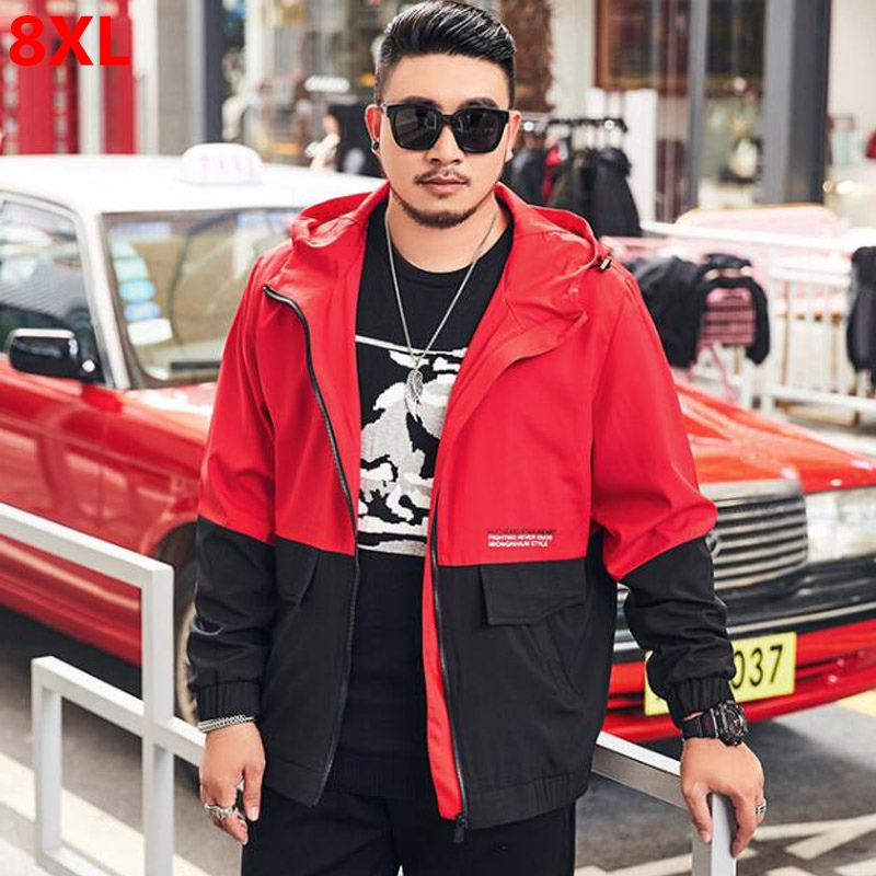 2019 autumn new men's large <font><b>size</b></font> jacket student fat <font><b>plus</b></font> <font><b>size</b></font> hat jacket youth tide fat oversized <font><b>8XL</b></font> <font><b>7XL</b></font> <font><b>6XL</b></font> <font><b>5XL</b></font> 4XL image