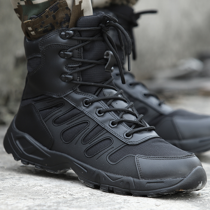 2019 Men's Boots Outdoor Shoes Men Brand Military Light Combat Boots Special Force Tactical Desert Ankle Boots Botas Masculina