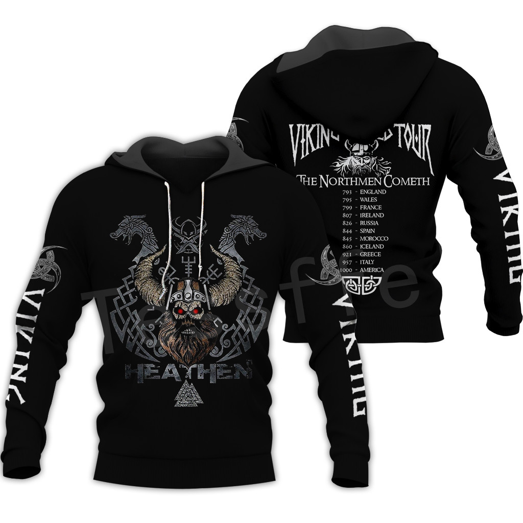 Tessffel Unisex Vikings Tattoo Viking Warriors NewFashion Harajuku MenWomen HipHop 3DPrint Zipper/Sweatshirts/Hoodies/Jacket S11