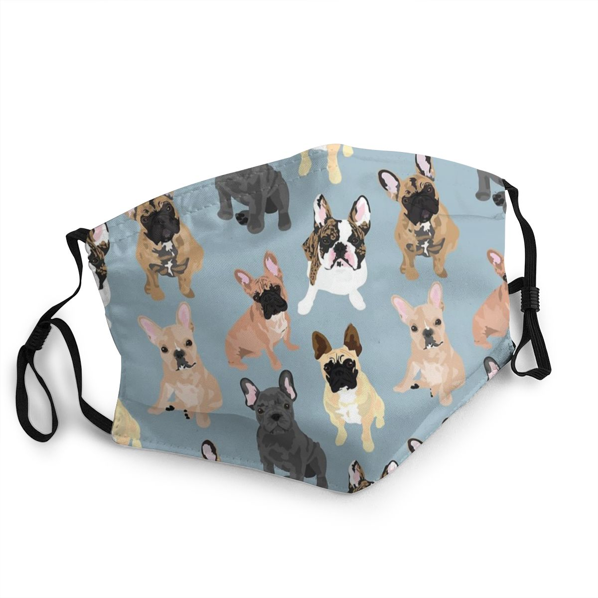 French Bulldogs Non-Disposable Mouth Face Mask Love Puppy Animal Pet Anti Haze Dust Protection Cover Respirator