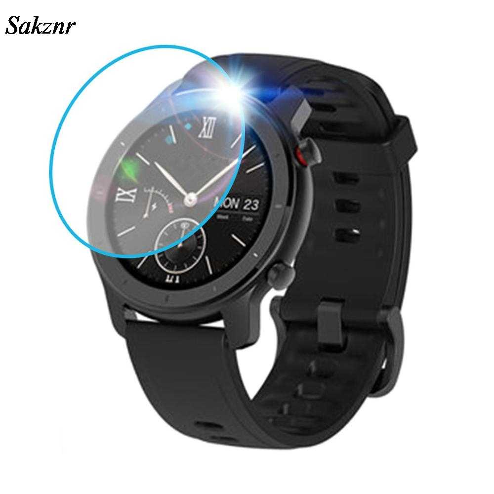 SAKZNR 3PC Clear Film Tempered Glass Screen Protector For AMAZFIT GTR Smart Watch 42/47mm Smart Watch Protective Accessories