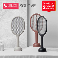 SOLOVE Electric mosquito racket P1 Vertical mosquito killer lamp Handheld fly killer racket USB rechargeable household products