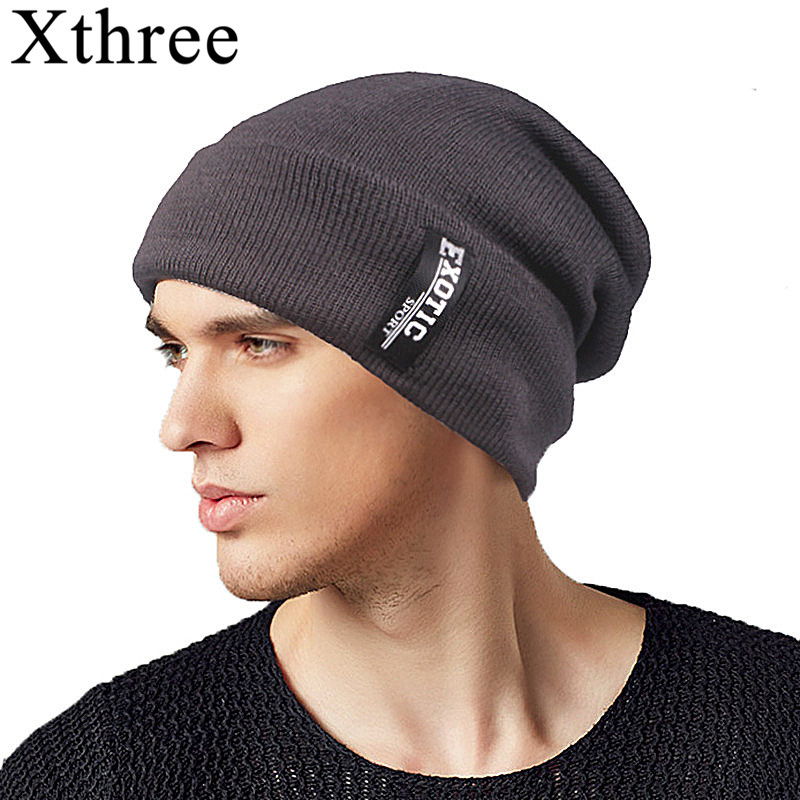 Winter Hats Xthree Caps Gorras-Bonnet Skullies Keep-Warm Women Lining Male for Men's