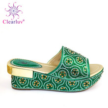 Latest African Dresses for Women High Quality Larges Size Shoes WomenOpen Toe Sexy Ladies Shoes Party Wedding Shoes