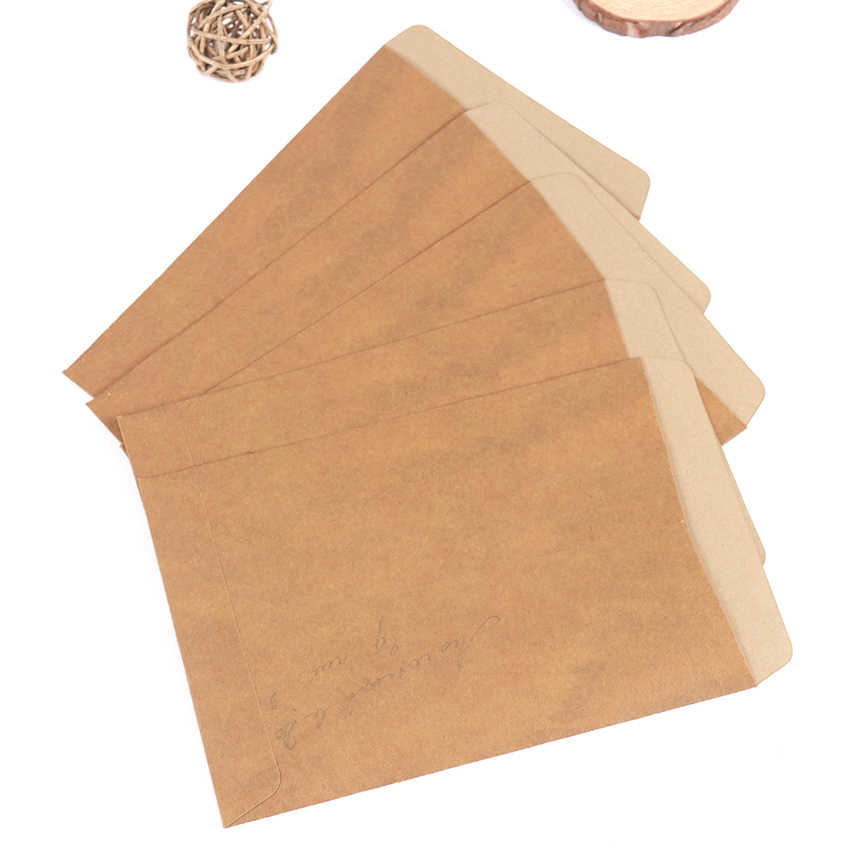 10 Buah/Banyak Kertas Amplop Vintage Kraft Amplop Undangan Amplop Kartu Pos Penutup Kertas Alat Tulis Amplop Hadiah
