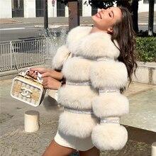 Fursarcar 2020 Новый Настоящее пальто с натуральным мехом; Женская