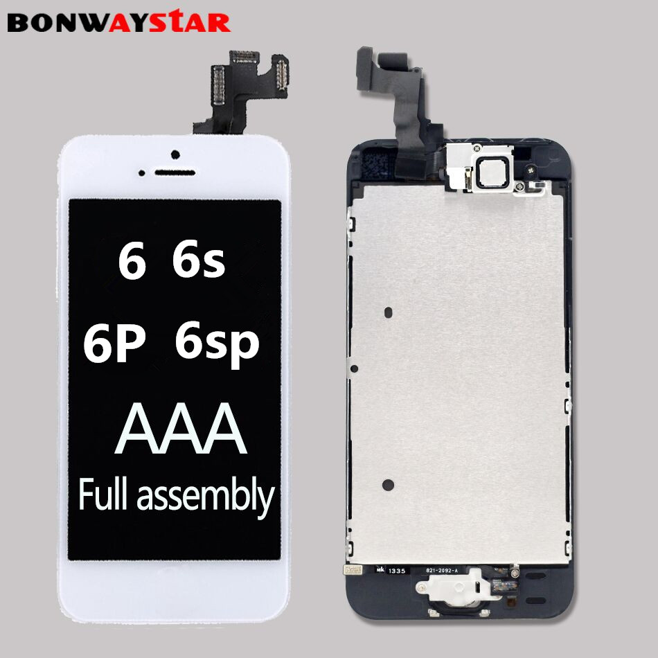 For iPhone 6p 6 6s plus LCD Full set Assembly Complete Touch For iPhone 5S lcd Screen Replacement Display camera+ home button image