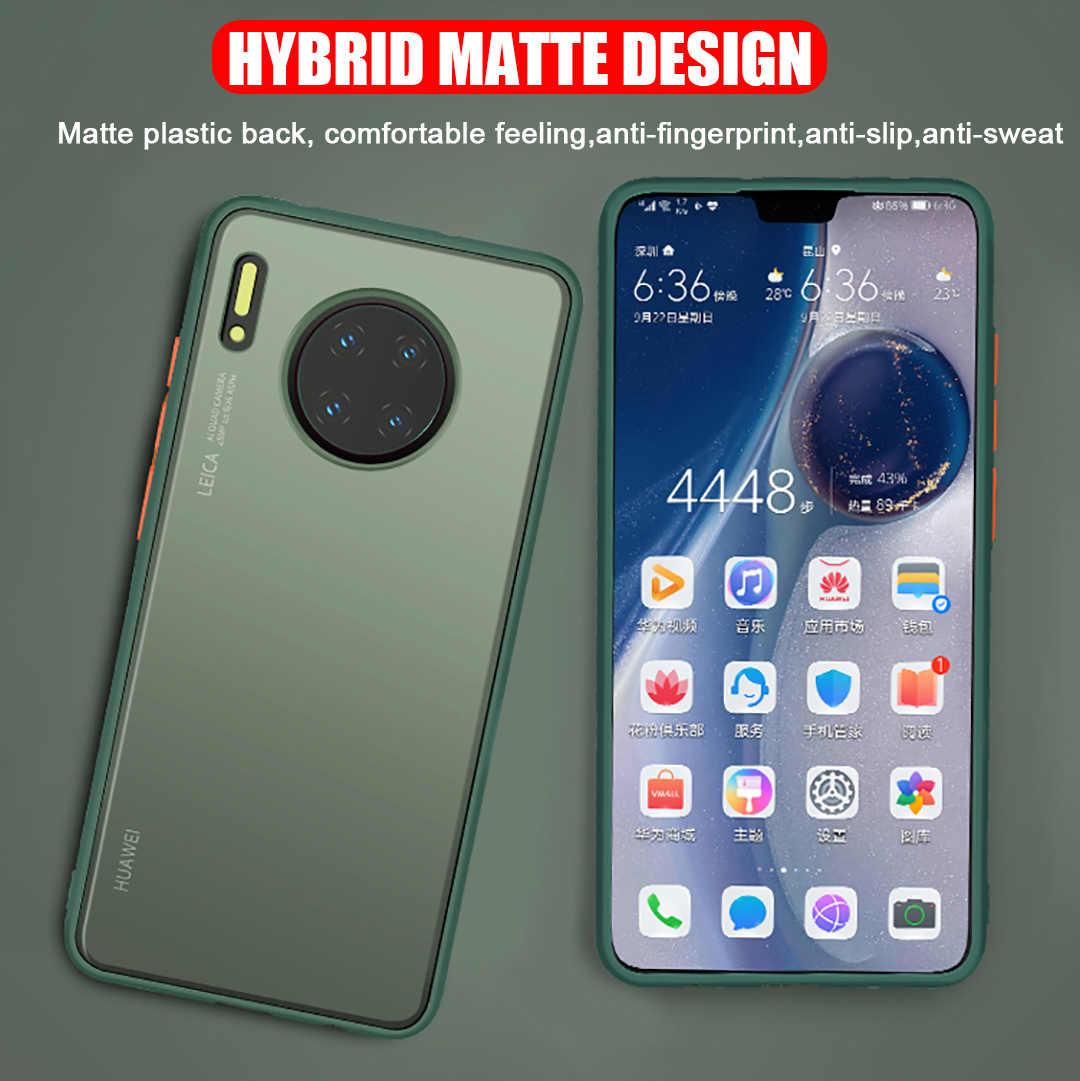 2020 Hybrid Matte Rugged Armatura Della Copertura per Huawei Mate 30 Pro Nova 6SE Antiurto Ultra Sottile Antiurto Copertura Della Cassa Del Telefono