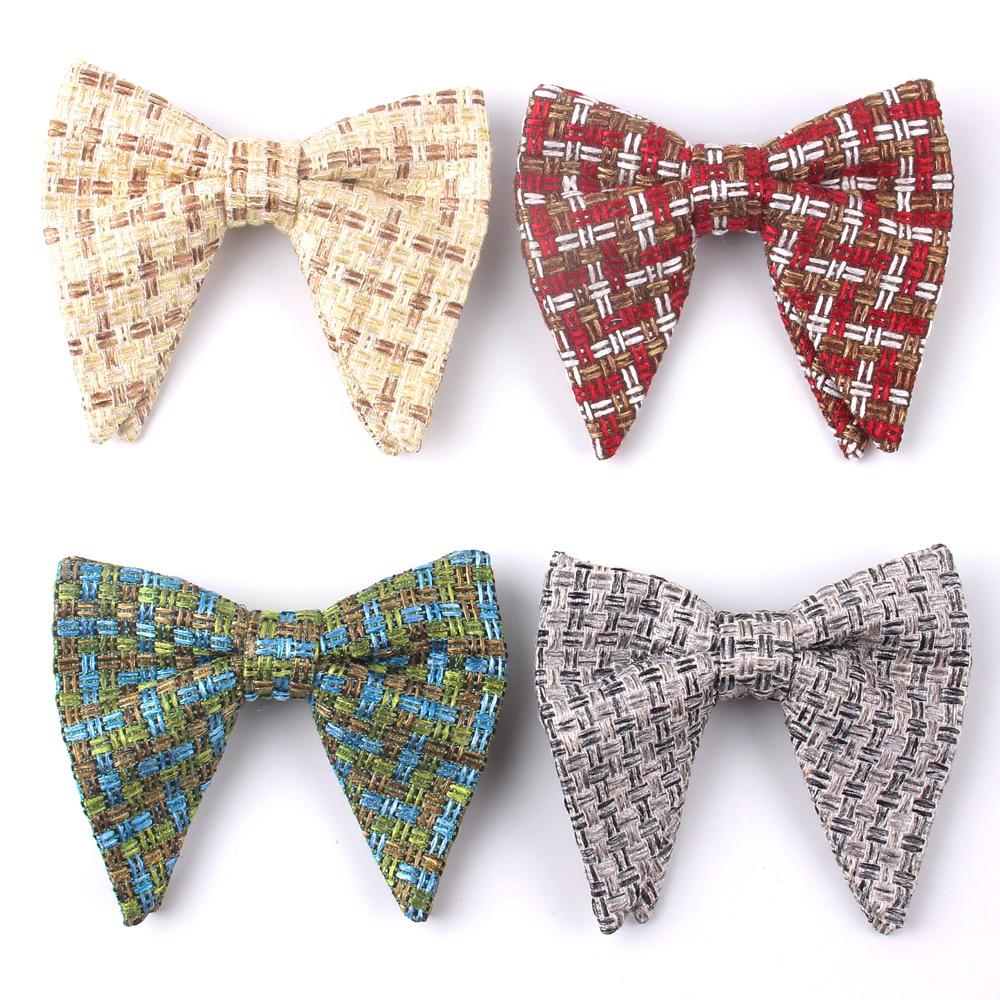 Men's Velvet Vintage Bow Tie For Men Women Tuxedo Solid Color Big Bowtie Bowknot Adult Mens Bowties Cravats Yellow Tie
