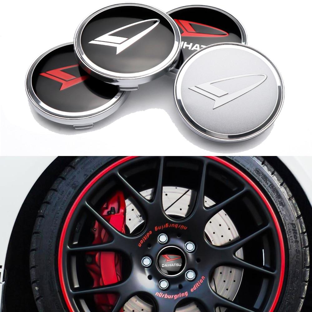 4 шт. 56 мм 60 мм колпачки для центрального колеса, обод, наклейки для Daihatsu Terios Sirion Mira материал Rocky YRV Feroza Pico
