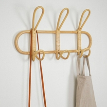 Rattan Hanger Hat Rack Garments-Organizer Hanging-Hook Room-Decor Kids