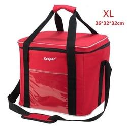 Super Large Cooler Bag With Frame, Red Insulated Picnic Bag Encryption 600D Oxford Cloth+PE Foam+PEAV; Bolsa Termica Grande