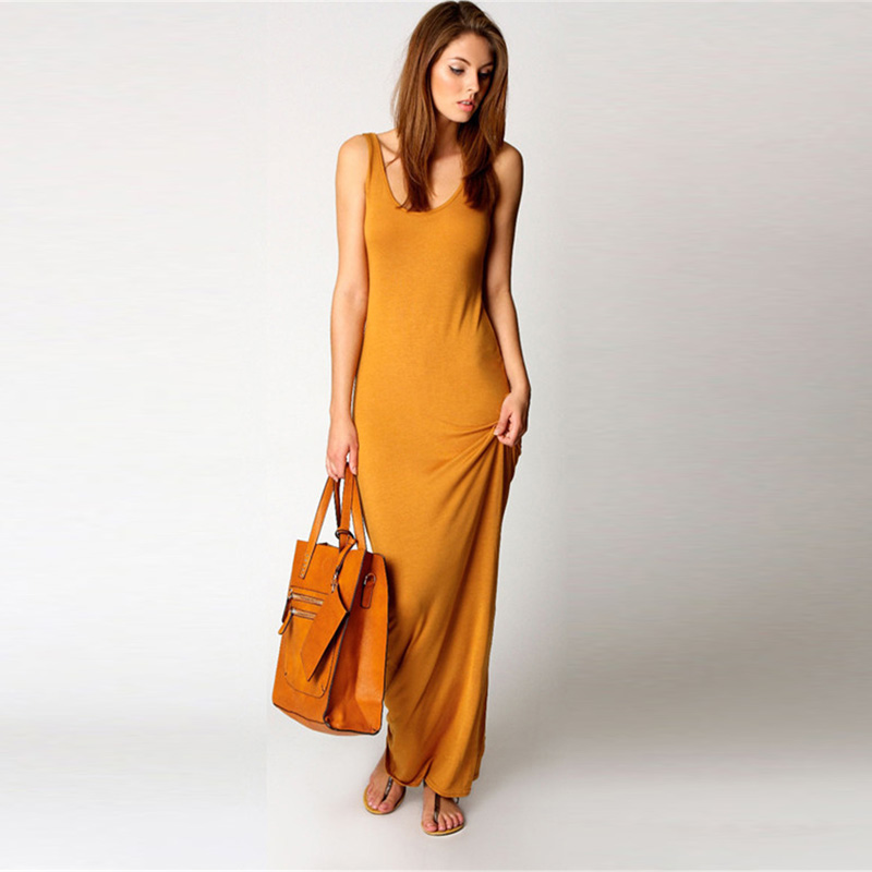 Maxi T shirt dress women 2019 summer casual sexy long dress bandage bodycon sundress high elastic Vintage plus size fashion gown in Dresses from Women 39 s Clothing