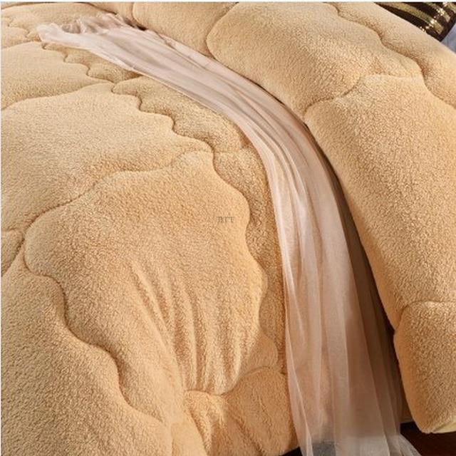 Фото теплое зимнее шерстяное одеяло camelhair утепленное одеяло/одеяло