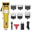 Беспроводная мощная машинка для стрижки волос, светодиодный дисплей, профессиональный триммер для волос для мужчин, машинка для стрижки во...
