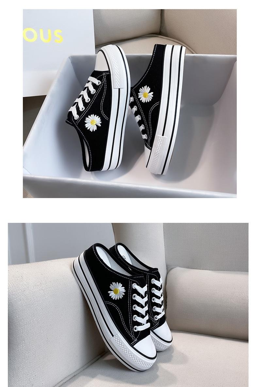 de lona feminino elegante estudante sapatos coreano