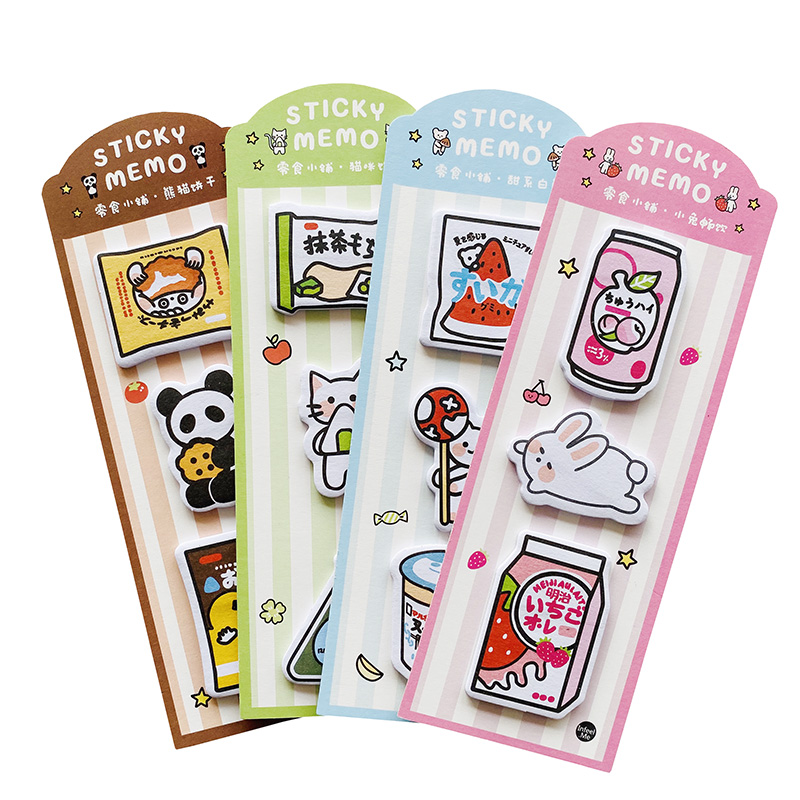 60 Sheets Kawaii Animals White Bear Panda Cat Rabbit Memo Pad Message Plan Sticky Notes School Office Supply Student Stationery