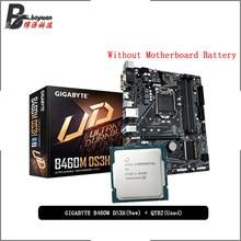 Procesador Intel Core i9 10900K ES QTB2 CPU + GA B460M DS3H, juego para placa base LGA 1200 CPU + traje de cable madre nuevo pero sin enfriador