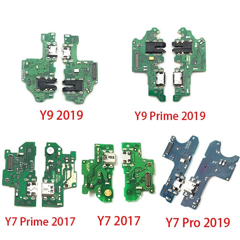 USB Charging Port Dock Charger Plug Connector Board Flex Cable For Huawei Y6 Y5 Y7 Pro Y9 Prime 2017 2018 2019 P Smart
