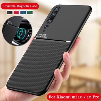 Funda a prueba de golpes para Xiaomi Mi 10 Mi10 Pro 5G funda de silicona para Xiaomi Mi 10 Lite 10 Pro soporte magnético para coche
