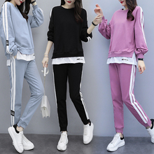 Plus Size Women Tracksuits Sportswear Ensemble Femme 2 Piece Sets Womens Outfits