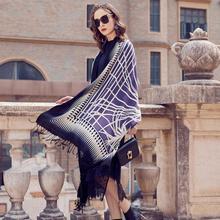 Bufandas de lana para mujer, pañuelo elegante, cálido, para Carf, marca de lujo, Hijab musulmán, manta de playa, Foulard protector facial