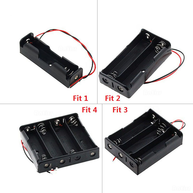 3.7V 18650 Battery Cell Battery Holder Storage Box Case 1x 2x 3x 4x 18650 DIY Open Wire Pins Drop Shipping