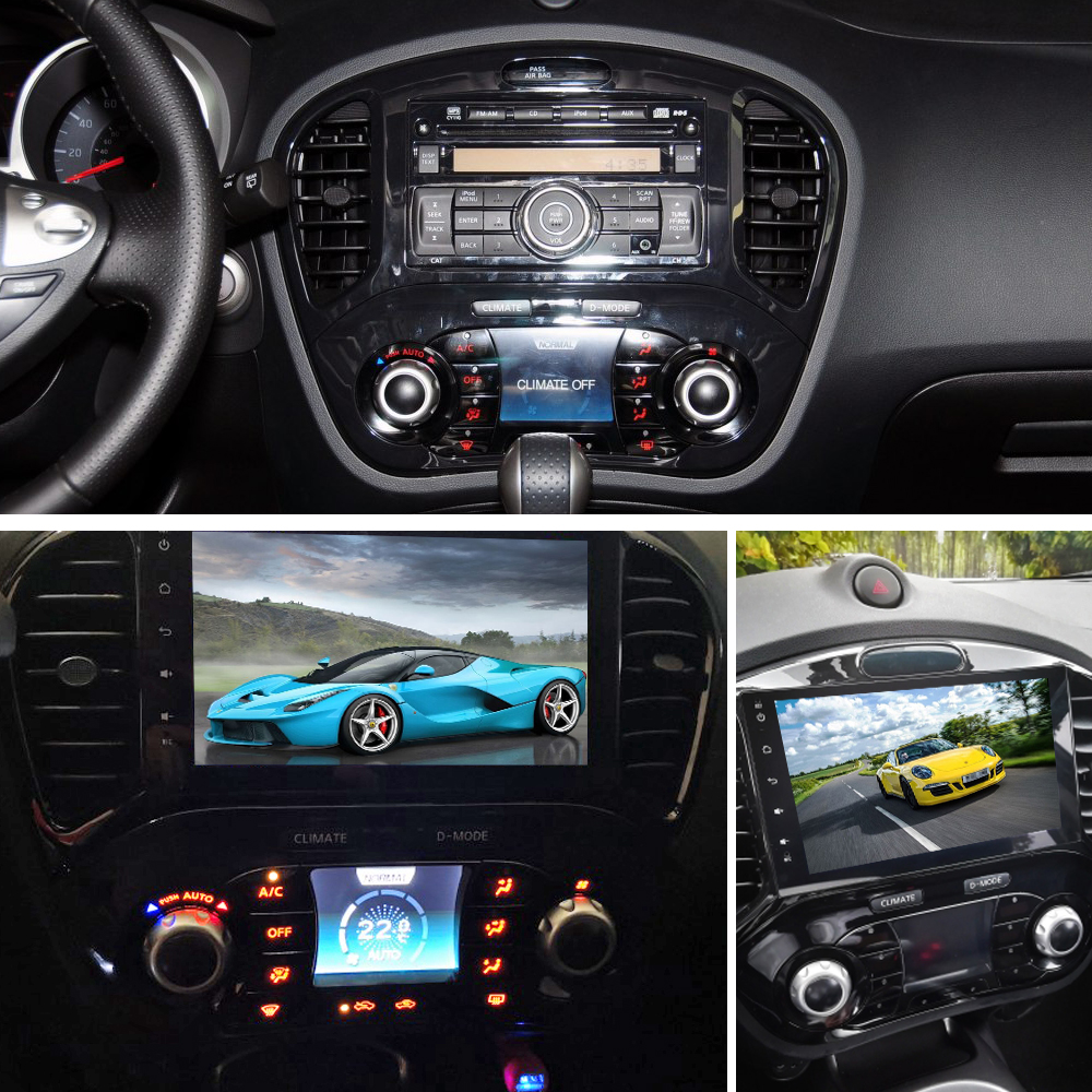 SINOSMART 4/8 Core CPU, 2G RAM 9 inch Android 8.1 Car GPS Navigation Audio for Nissan Juke support factory OEM 360 Camera/NAV
