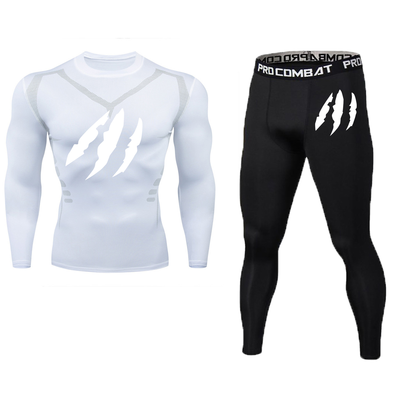 24-hour Delivery Men's Long-sleeved Compression Gym Tights Sportswear Suit Training Suits Sports Running Clothes Service Sports