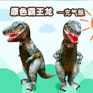 Image 4 - דינוזאור מתנפח תלבושות למבוגרים ליל כל הקדושים יורה העולם תחפושות תחפושת