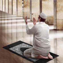 Tapis de prière Portable avec compas, tapis en Poly, étanche pour lislam musulman, avec sac, nouveauté, 100x60cm